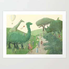 The Night Gardener - Summer Park  Art Print