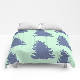 Blue Spruce Forest Print Comforters