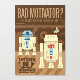 Droid repair shop Canvas Print