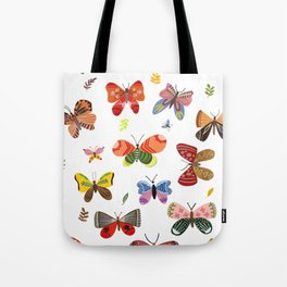Butterfly Illustration Watercolor Tote Bag
