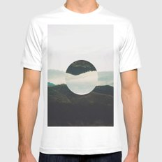 Up side down Mens Fitted Tee MEDIUM White