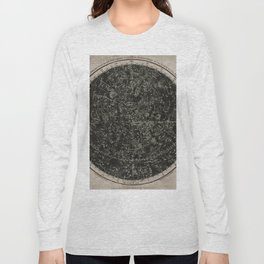 Constellations of the Northern Hemisphere on Vintage Paper Long Sleeve T-shirt