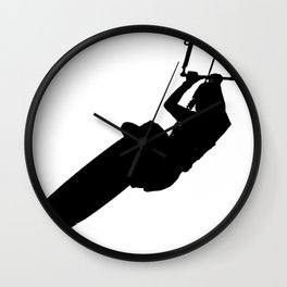 Time To Wake Up Kiteboarder Silhouette Wall Clock