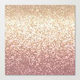 Champagne Gold Blush Pink Glittery Ombre Pattern #society6 Canvas Print