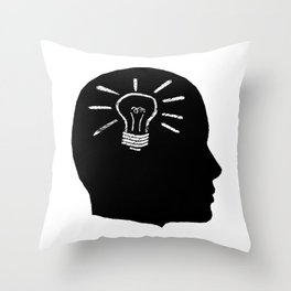 Lightbulb Moment Throw Pillow