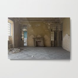 The crooked fireplace Metal Print