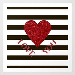 Love you Valentines day Art Print