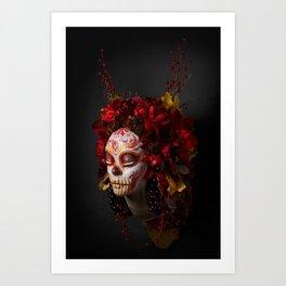 Crimson Havest Muertita Art Print