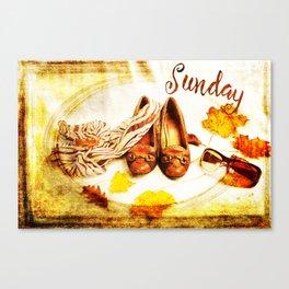Sunday Shoes Canvas Print