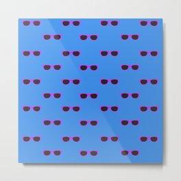 Glasses, blue Metal Print