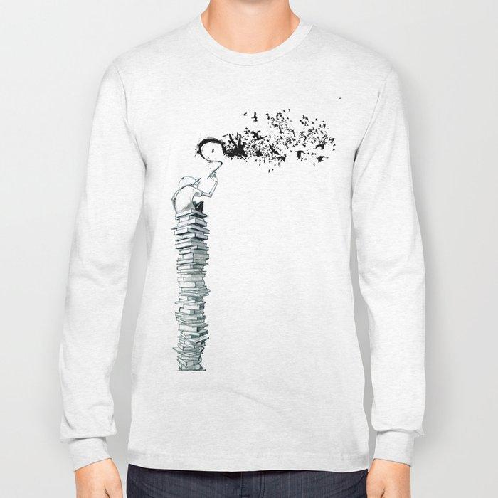 "Glue Network Print Series ""Education & Arts"" Long Sleeve T-shirt"