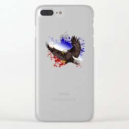 Bald Eagle - Red, White & Blue Clear iPhone Case