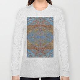 Fall blue geometry Long Sleeve T-shirt