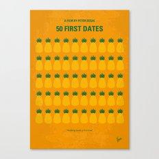 No696 My 50 First Dates minimal movie Canvas Print
