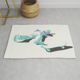 skateboarding (lost time, risograph version) Rug