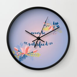 satisfied Wall Clock