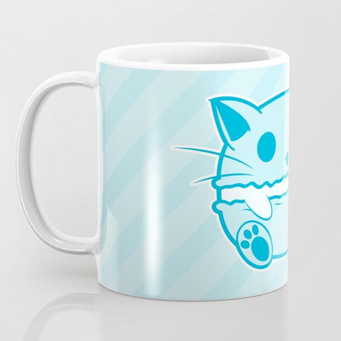Blue Kawaii Cat Macaroon Coffee Mug
