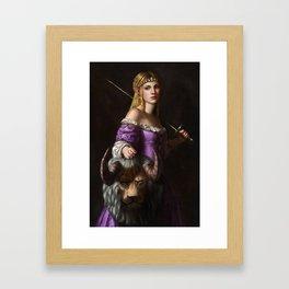 The Princess with the head of a lyne Framed Art Print