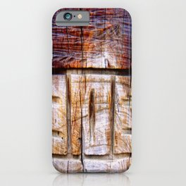 Wood Carving iPhone Case