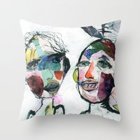 valentines Throw Pillows featuring Valentines by julia antica dean
