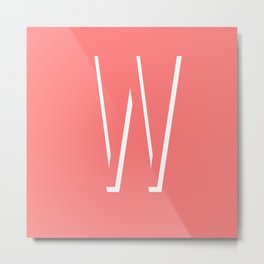 The Letter W Metal Print