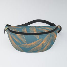 Feathered Leaf Pattern Fanny Pack
