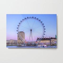 The London Eye, London Metal Print