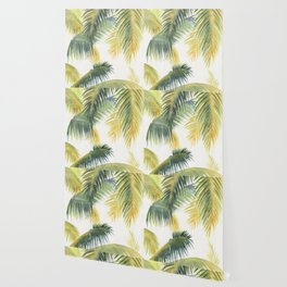 Tropical Palm Leaves Wallpaper