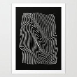 Minimal curves black Art Print
