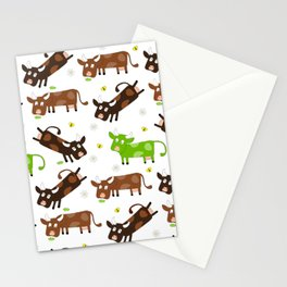 Cow Pattern | Cow Spots Farm Farmer Animal Milk Stationery Cards