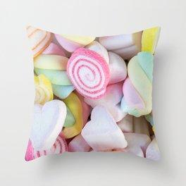 Pastel Rainbow Candy Throw Pillow