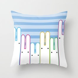 Bunny Buddies Throw Pillow