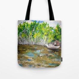 Florida Mangrove Tea Water in the Everglades Tote Bag