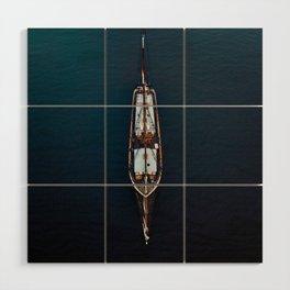 Sailing Ship in the Ocean Wood Wall Art