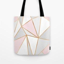 Pink, Grey & Gold Geo Tote Bag