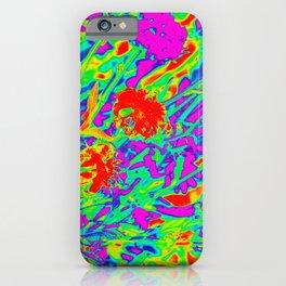 Psychedelic flower garden iPhone Case