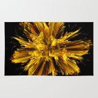 big bang Area & Throw Rugs featuring Big Bang by Art-Motiva