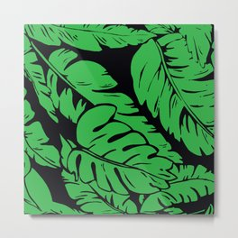 PALM LEAF GREEN Metal Print