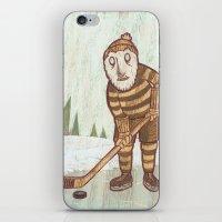 hockey iPhone & iPod Skins featuring Hockey Yeti by Kip Noschese