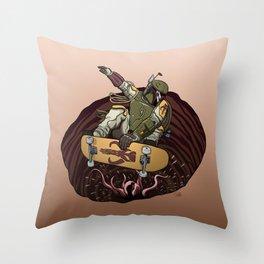 Boba Fett Shreds Throw Pillow