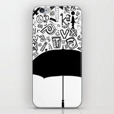 Letter Rain iPhone & iPod Skin