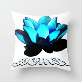 Lotus Flower Bomb Throw Pillow