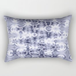 Silvernetic Neuron Pattern Rectangular Pillow