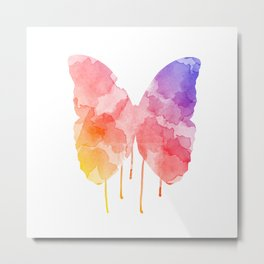 Dripping Butterfly  Metal Print