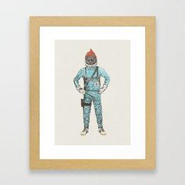 Zissou In Space Framed Art Print