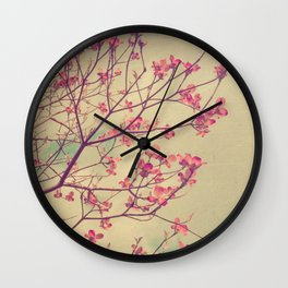 Vintage Pink Dogwood Tree in Flower Wall Clock