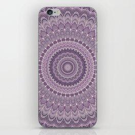 Purple feather mandala iPhone Skin