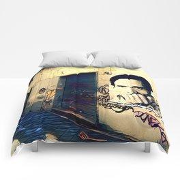 Street Art Pasolini in Rome Comforters