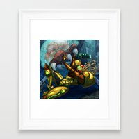 metroid Framed Art Prints featuring Metroid by Kim Herbst