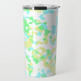 Blue, Yellow, and Green Mosaic Travel Mug